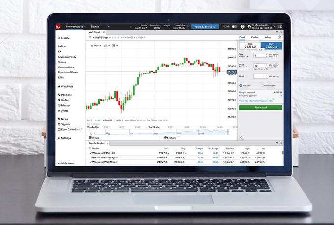 IG証券のデモ画面