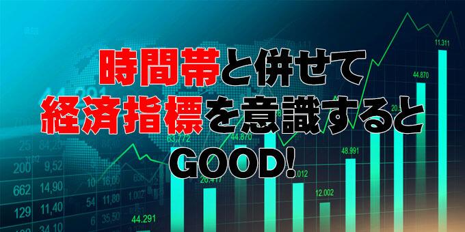 時間帯と併せて経済指標を意識するとGOOD!