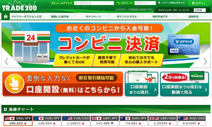 トレード200公式サイト