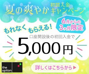 ザ・オプションの初回入金キャンペーン